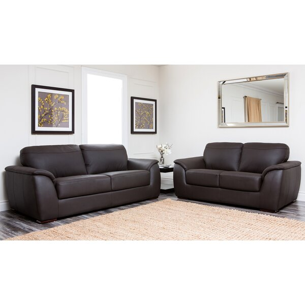 Voyles 2 Piece Leather Living Room Set by Brayden Studio