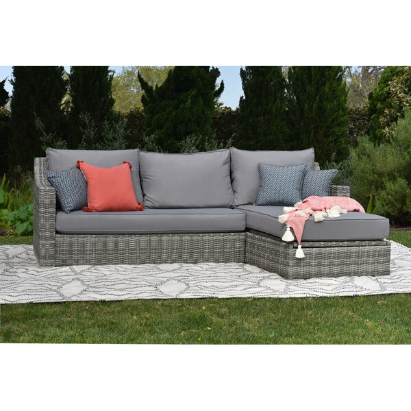 Vallauris Storage Patio Sectional with Cushions by Elle Decor Elle Decor