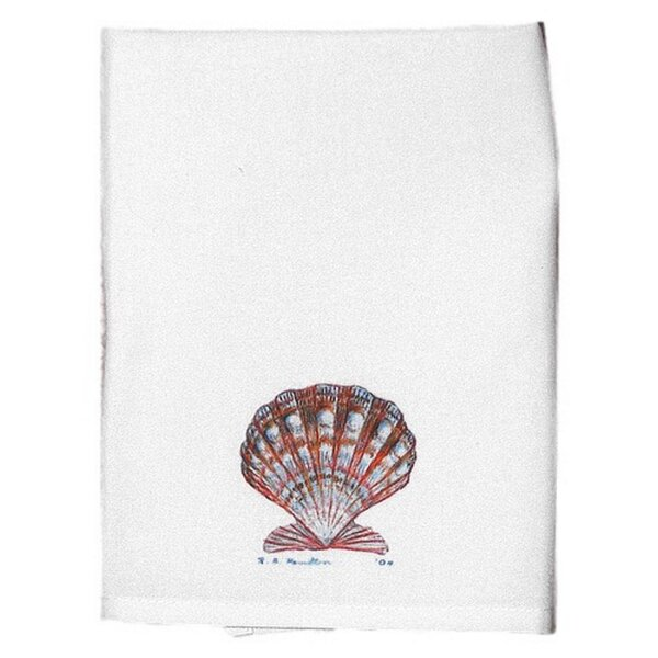 Scallop Shell Hand Towel by Betsy Drake Interiors