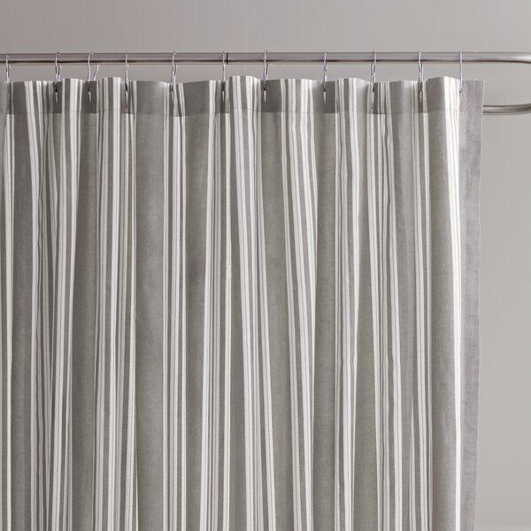 Daria Striped Cotton Shower Curtain by Birch Lane™