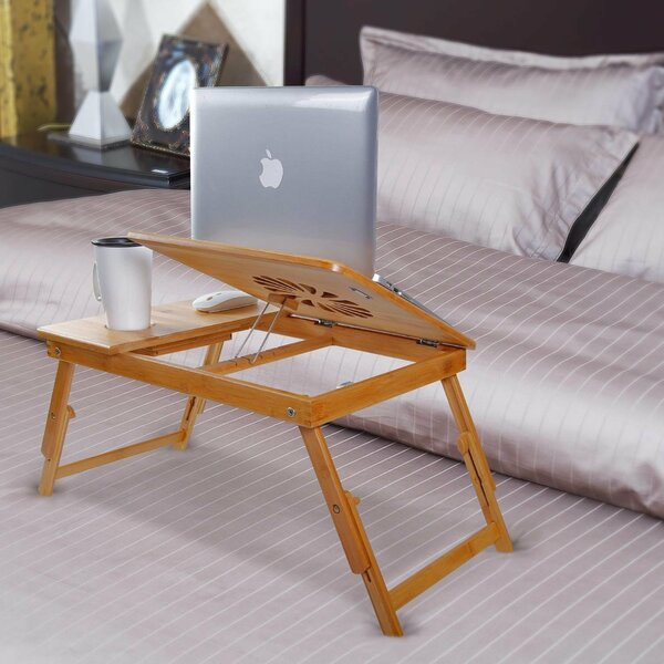 Adjustable Bamboo Wood Lap Desk by Symple Stuff