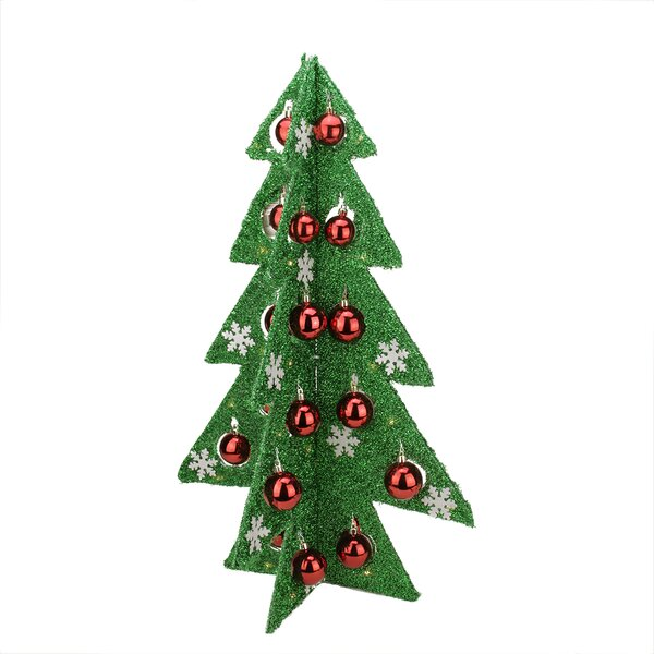 Battery Operated Decorated Tinsel LED Lighted Christmas Tree Table Top Decoration by Northlight Seasonal