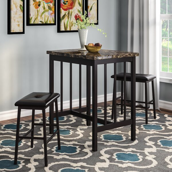 Della 3 Piece Pub Table Set by Andover Mills Andover Mills