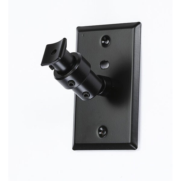 Universal Speaker Wall Ceiling Mount with Electrical Box Installation Adapter Plate in Black by Pinpoint Mounts