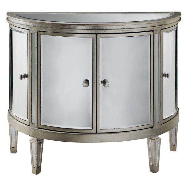 Sheila 4 Door Mirrored Accent Cabinet