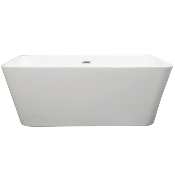 Gubbio 59 x 29 Freestanding Soaking Bathtub by Vinnova