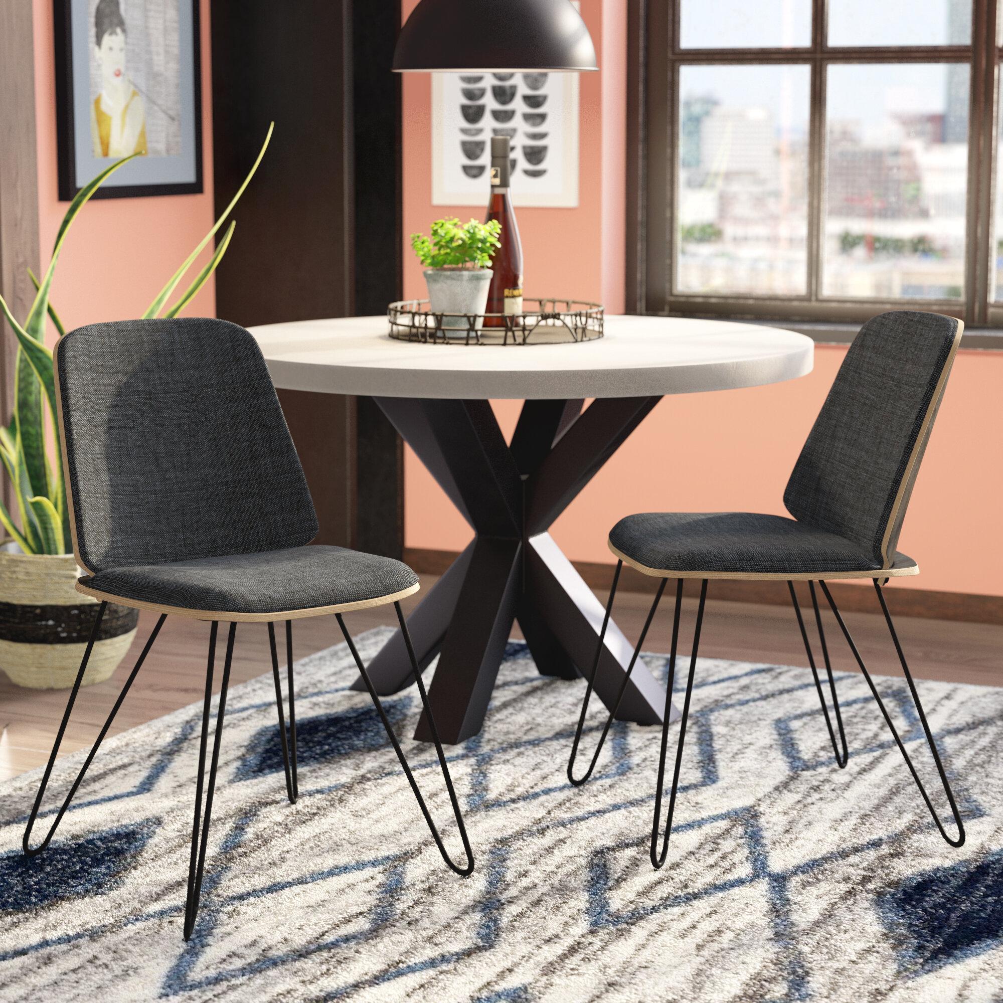 Wade Logan Callendale Mid Century Modern Upholstered Dining Chair Wayfair