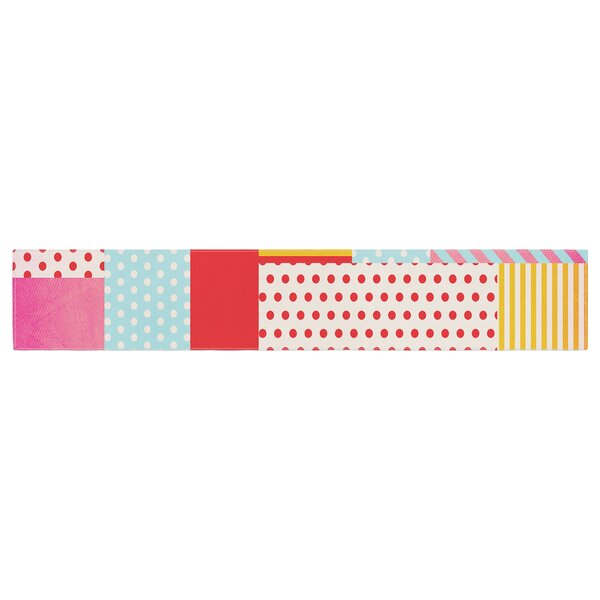 Louise Machado Geometric Pop Abstract Table Runner by East Urban Home