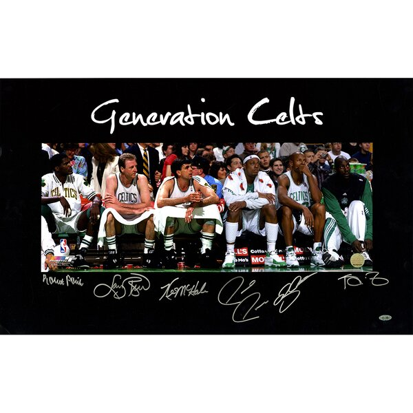Ray Allen/Larry Bird/Kevin Garnett/Kevin McHale/Robert Parish/Paul Pierce Generation Celts Multi Signed Graphic Art by Steiner Sports
