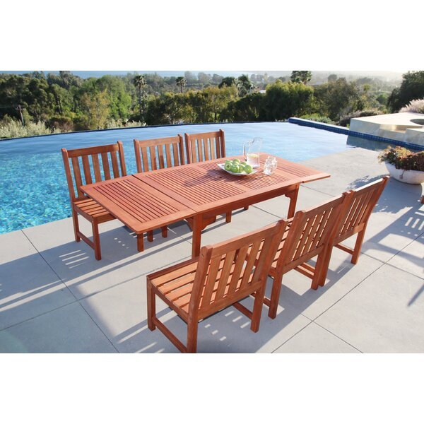 Monterry Classic Extendable 7 Piece Dining Set by Beachcrest Home