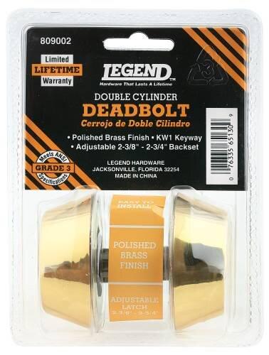 Double Cylinder Deadbolt by Legend Locksets