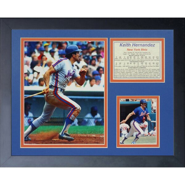 Keith Hernandez Framed Memorabilia by Legends Never Die