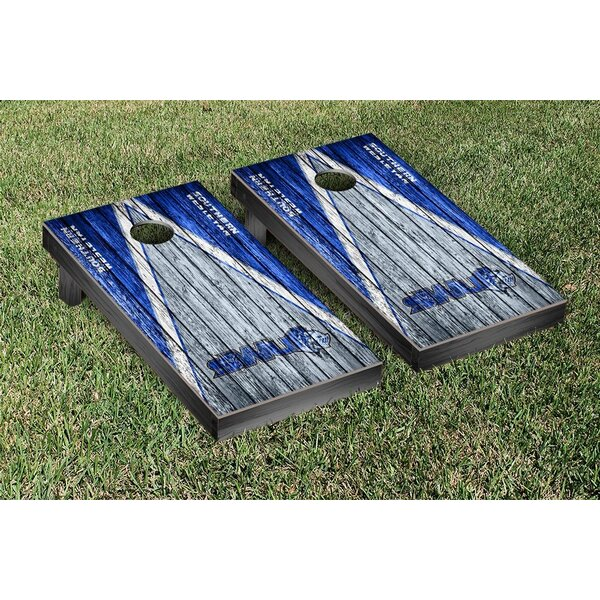 Southern Wesleyan Warriors Weathered Triangle Version Cornhole Game Set by Victory Tailgate