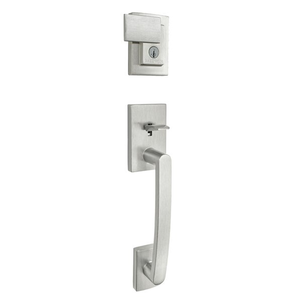 Prestige Spyglass Single Cylinder Handleset with Spyglass Lever Featuring Smartkey® Security by Baldwin