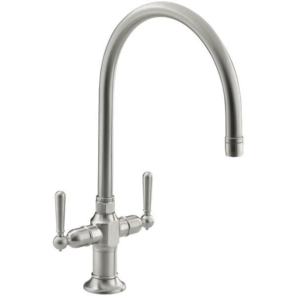 Hirisesingle Double Handle Kitchen Faucet by Kohler