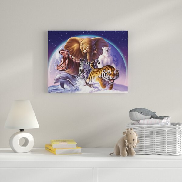 Wild World Graphic Art on Wrapped Canvas by Zoomie Kids