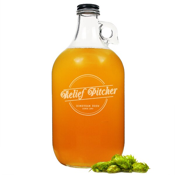 Relief Pitcher Craft Beer 64 oz. Growler by Cathys Concepts