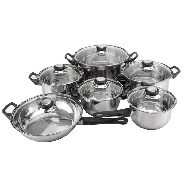 Monterrey 12 Piece Priminute Stainless Steel Cookware Set by Magefesa