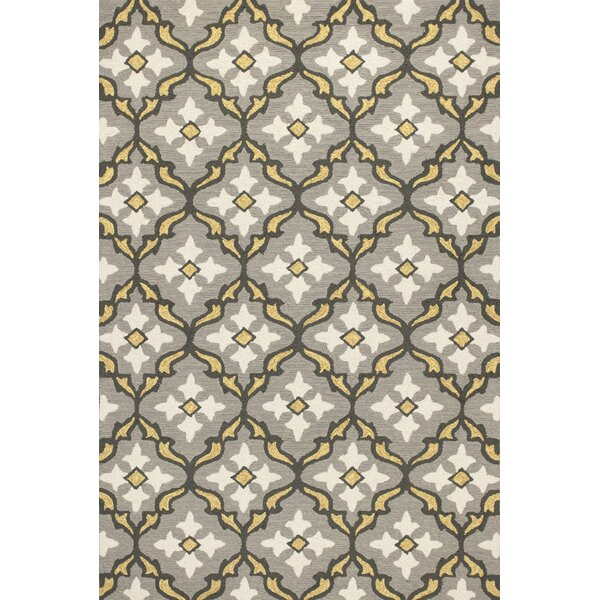 Edinburgh Handmade Gray/Gold Indoor/Outdoor Area Rug by Charlton Home
