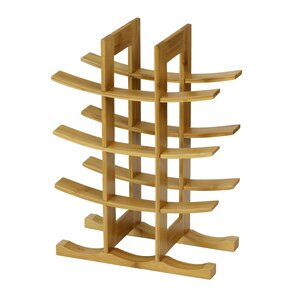 DaPur Bamboo 12-Bottle Tabletop Wine Rack by Furinno