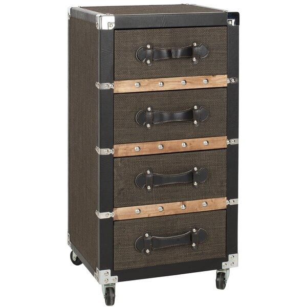 Brent 4 Drawer Rolling Accent Chest by Safavieh