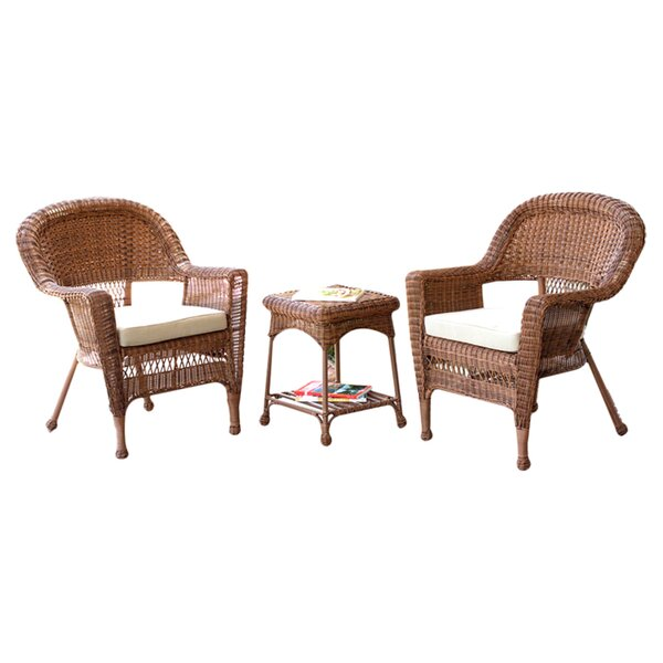 Gomes 3 Piece Bistro Set with Cushion by Highland Dunes