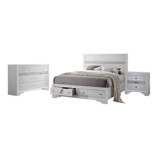 Ines Storage Standard Configrauble Bedroom Set by House of Hampton