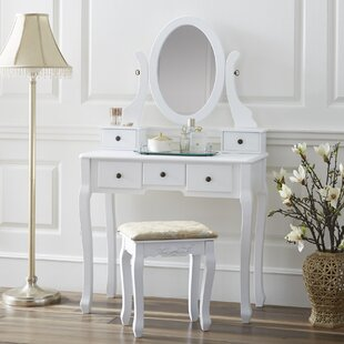 Great choice Chelsey Dressing Vanity Set with Mirror by Charlton Home