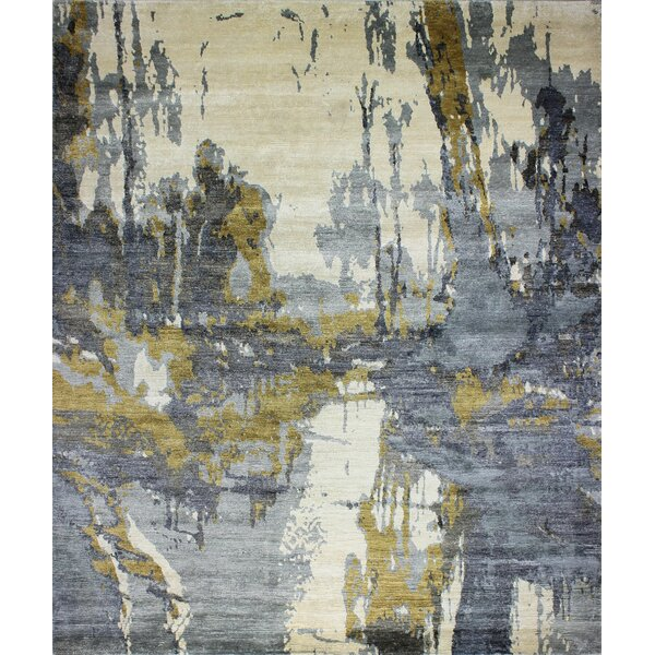 Dahl Hand-Woven Ivory/Blue Area Rug by 17 Stories