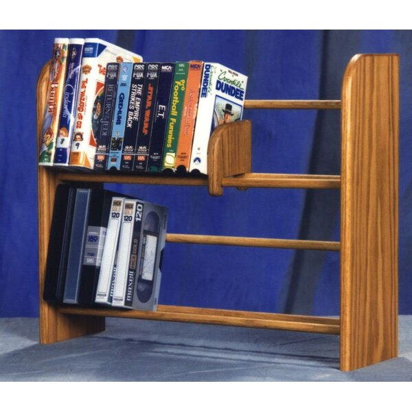200 Series 80 DVD Dowel Multimedia Tabletop Storage Rack by Wood Shed