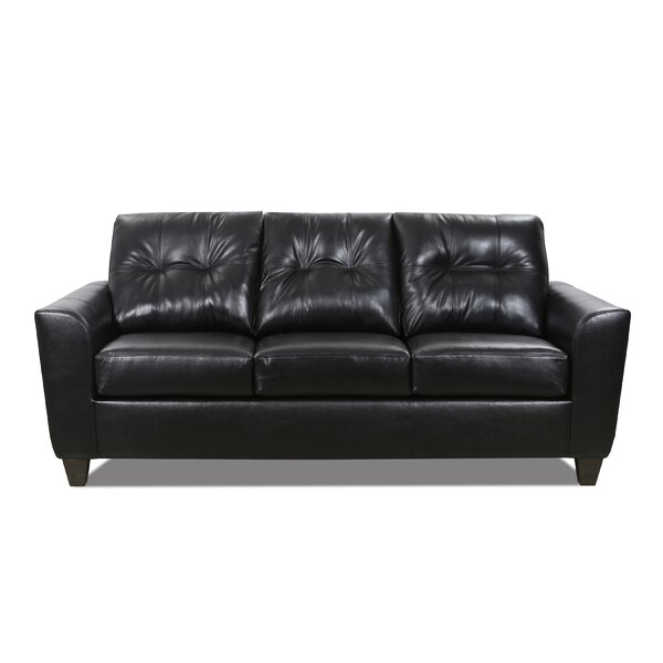 Madson Leather Sofa by Wrought Studio