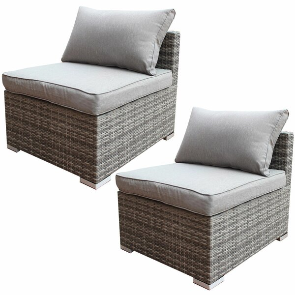 Arjun Patio Chair with Cushion (Set of 2) by Orren Ellis
