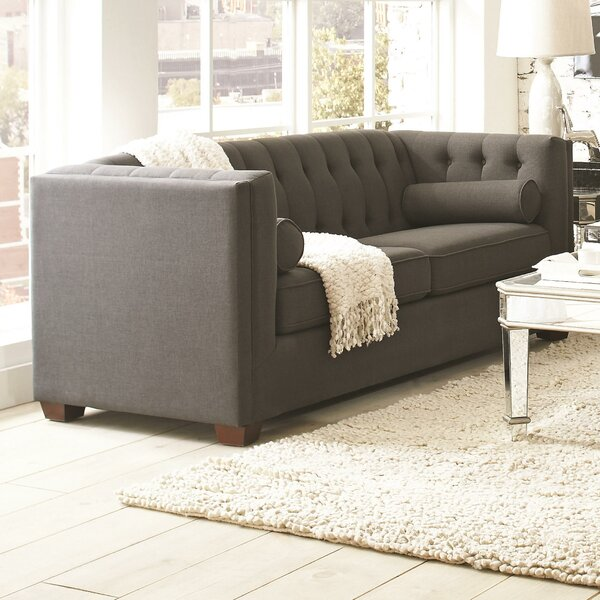 McDougal Chesterfield Sofa by Three Posts