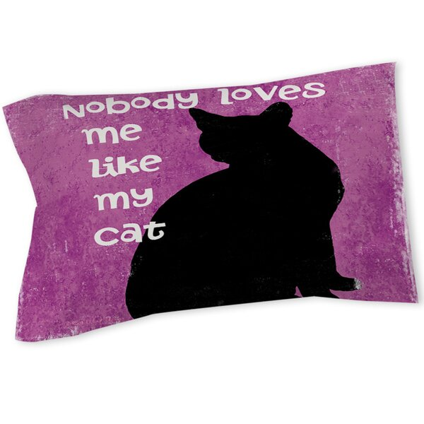 Nobody Loves Me Like My Cat Sham by Manual Woodworkers & Weavers