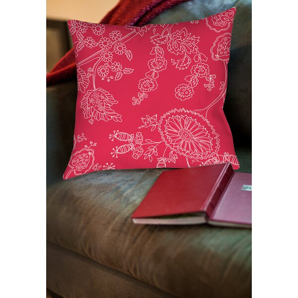 Anima Outline Printed Throw Pillow by Manual Woodworkers & Weavers