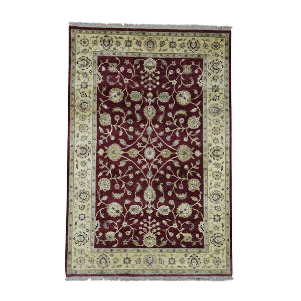 One-of-a-Kind Penix Rajasthan Oriental Hand-Knotted Red Area Rug by World Menagerie