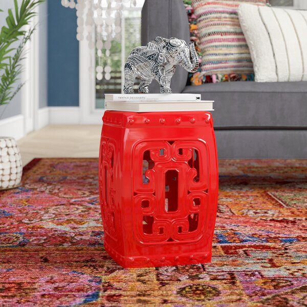 Tulia Ceramic Garden Stool by World Menagerie