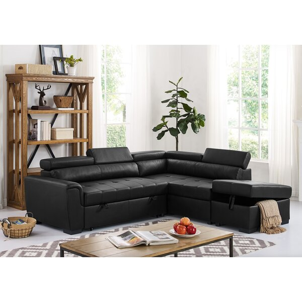 Review Menomonie Right Hand Facing Sleeper Sectional With Ottoman