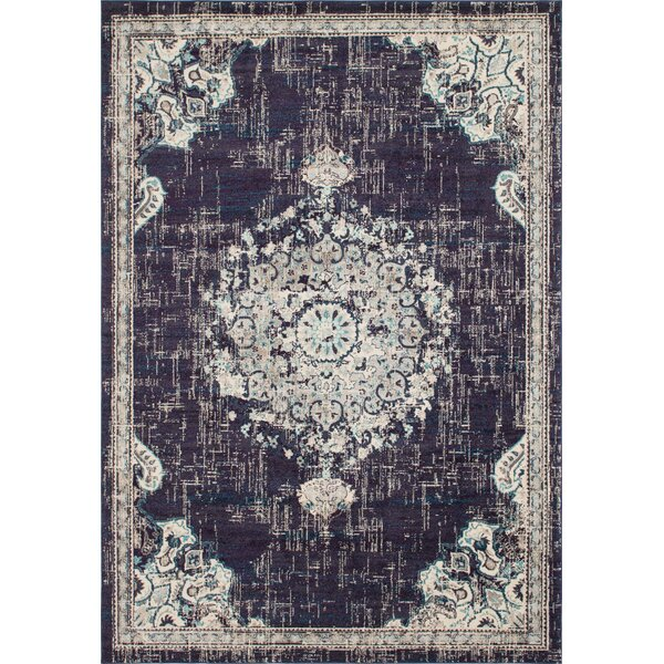 Ernst Black/Beige Area Rug by Bungalow Rose