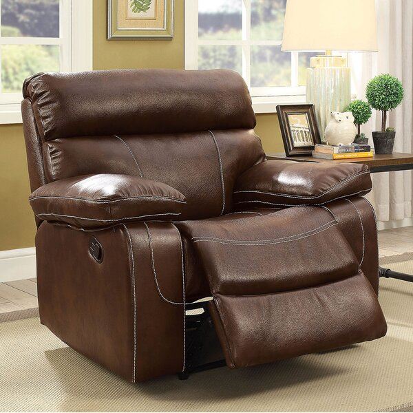 Saltville Leather Recliner by Winston Porter