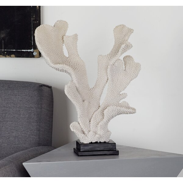 Polystone Coral Sculpture by Cole & Grey