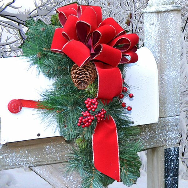 Holiday Mailbox Swag by Floral Home Decor
