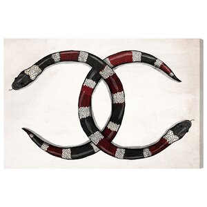 High Fashion Snakes Graphic Art on Wrapped Canvas by House of Hampton