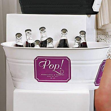 Oval Plastic Beverage Tub by Weddingstar