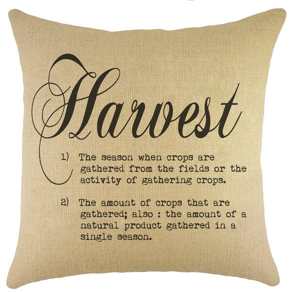 Harvest Burlap Throw Pillow by TheWatsonShop