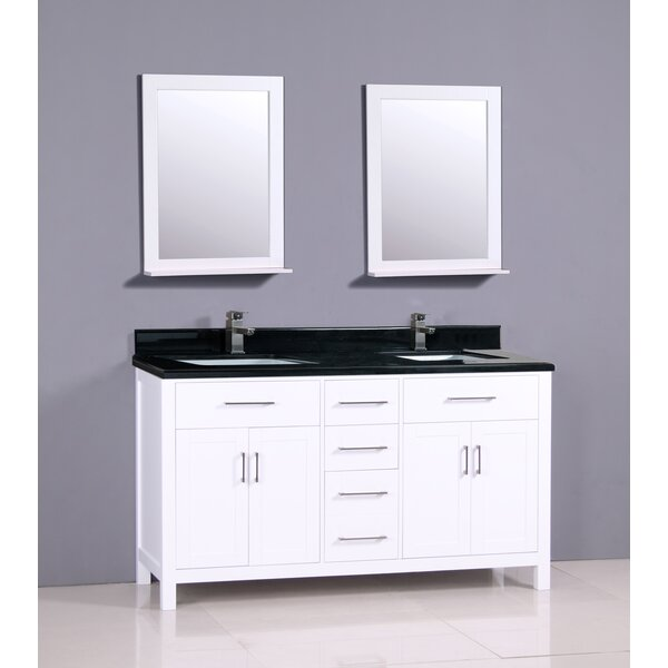 Flannery 61 Double Bathroom Vanity Set by Ebern Designs