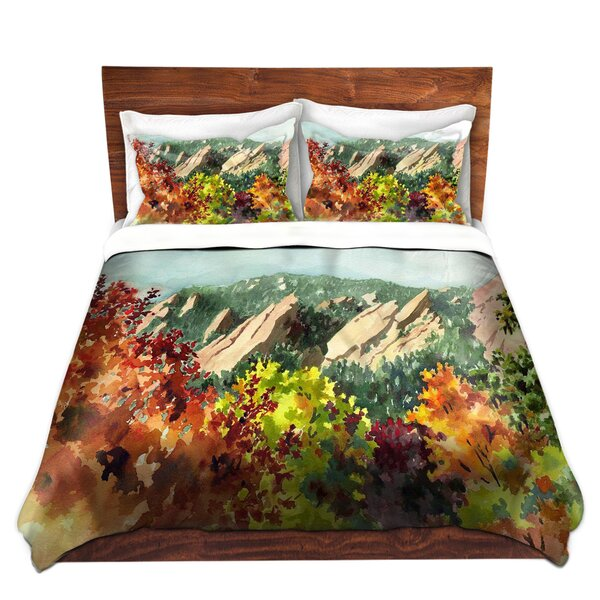 Fall Flatirons Boulder Duvet Cover Set