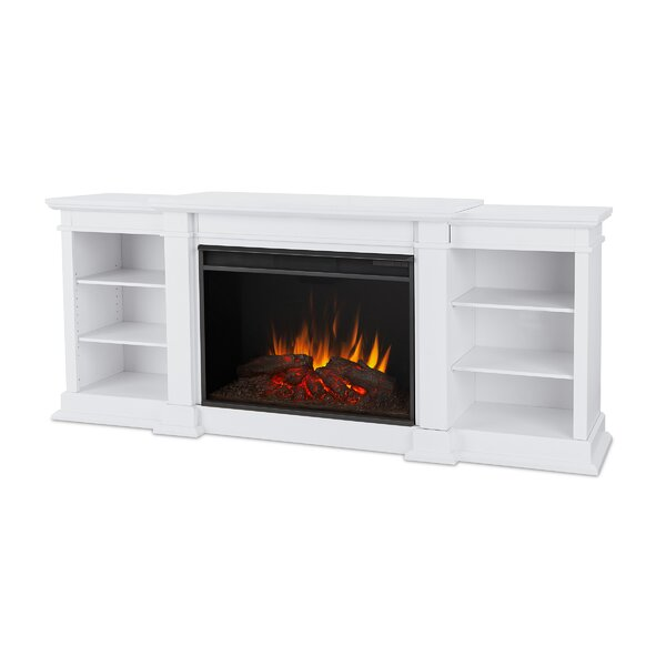 Eliot 81 TV Stand with Fireplace by Real Flame