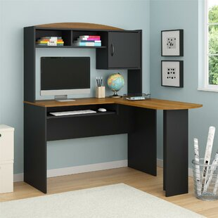 Best McBrine L-Shaped Computer Desk with Hutch By Ebern Designs
