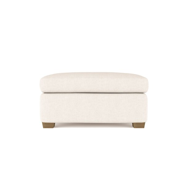 Leung Vintage Leather Ottoman By 17 Stories